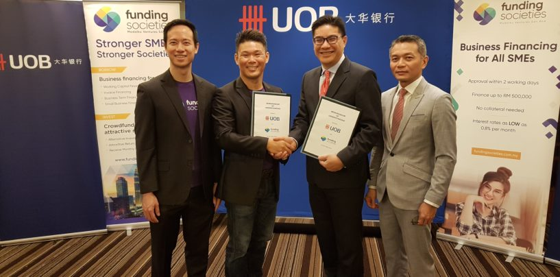 UOB Inks Deal With Funding Societies To Provide Startups Access to Funding