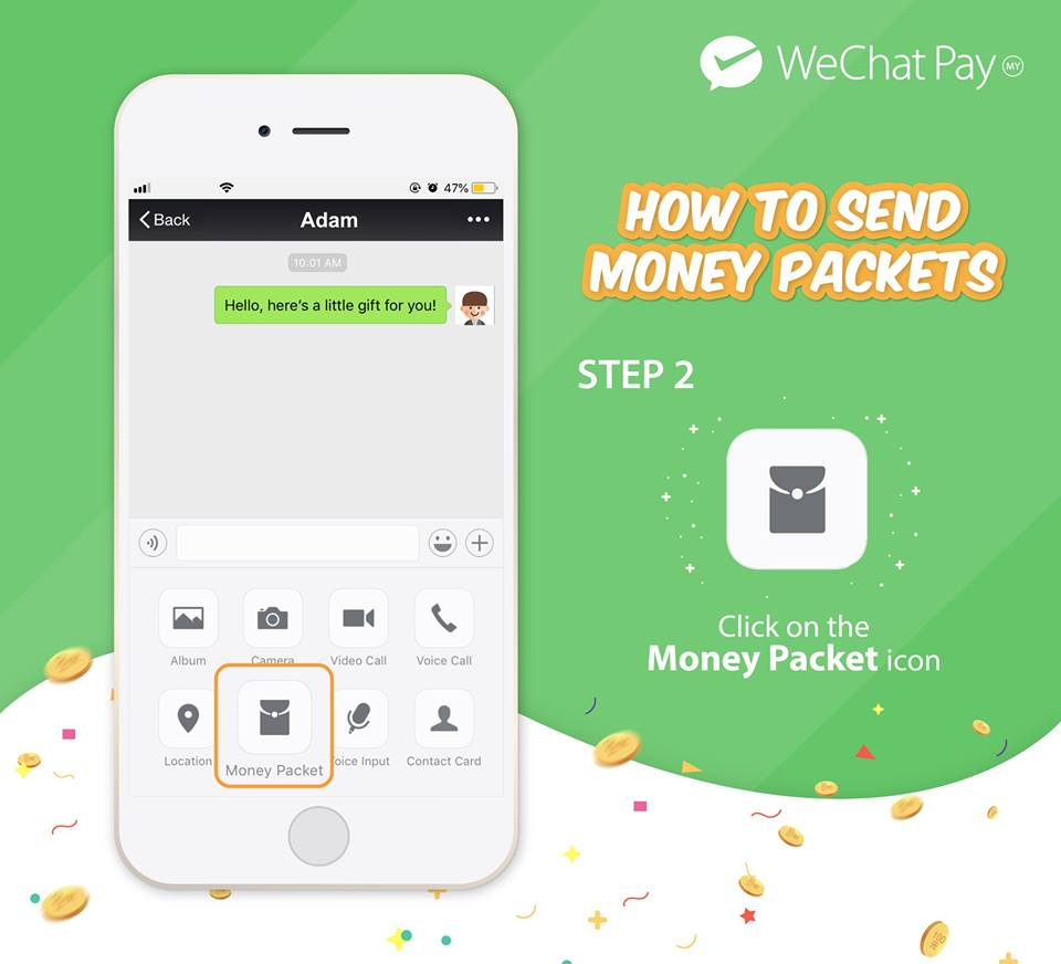 wechat pay malaysia launch money packet 2