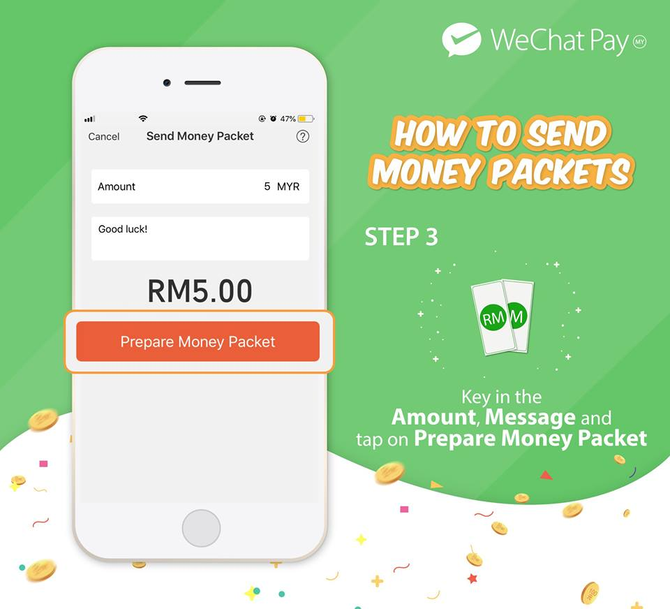 wechat pay malaysia launch money packet 3