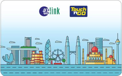 touch 'n go ez link card singapore malaysia multi currency